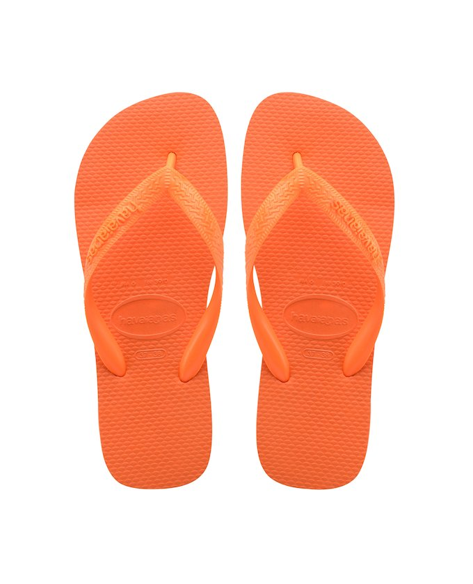 d01b64aeaf3f5 HAVAIANAS TOP - Neon Orange. HAVAIANAS TOP- Neon Orange Black flip flops ...