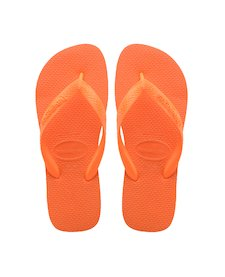 f1afb98ad8bb HAVAIANAS TOP- Neon Orange Flip Flops for women