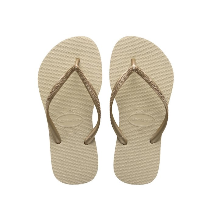 a5360ce2cd1f3b HAVAIANAS SLIM - Sand Grey   Light Golden