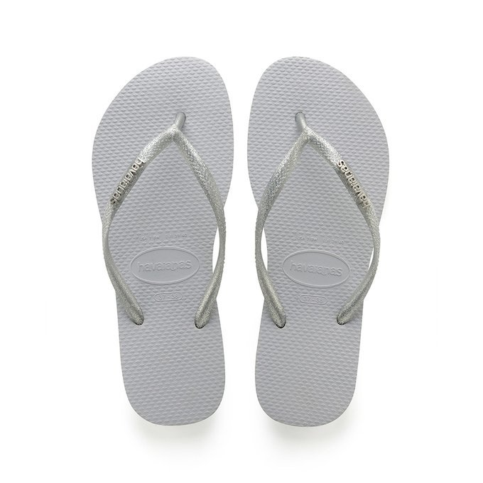 Havaianas Slim Logo W Metallic Rock Black