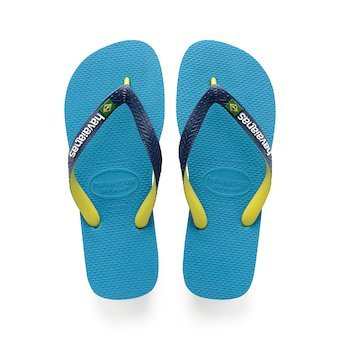 b955d4e40ee2c7 HAVAIANAS BRASIL MIX- Turquoise Flip Flops for women