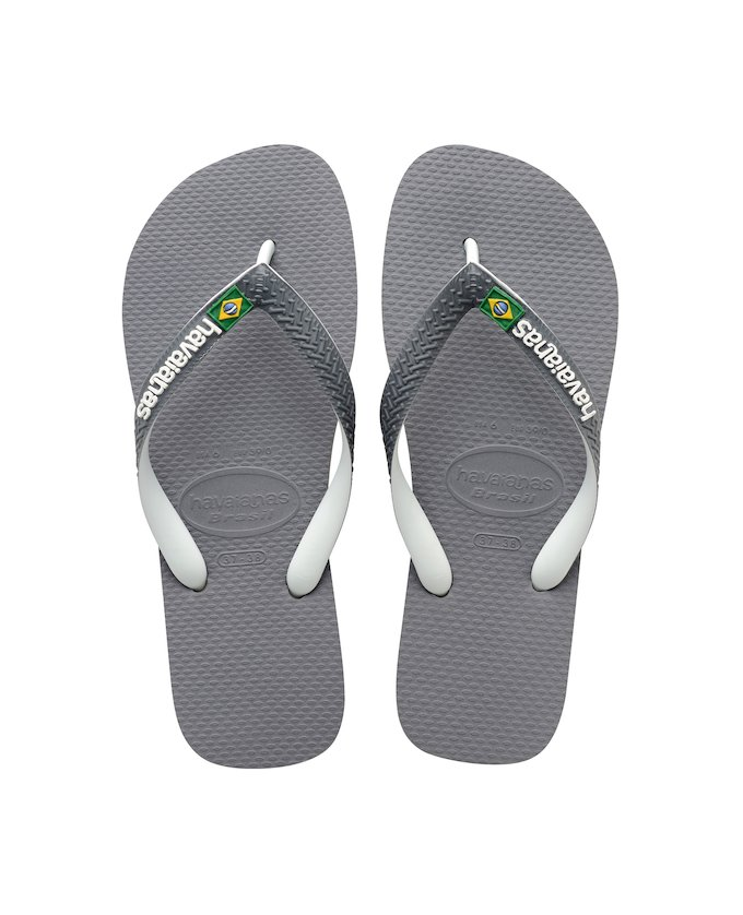 165ad567a ... HAVAIANAS BRASIL MIX - Steel Grey   White   White ...