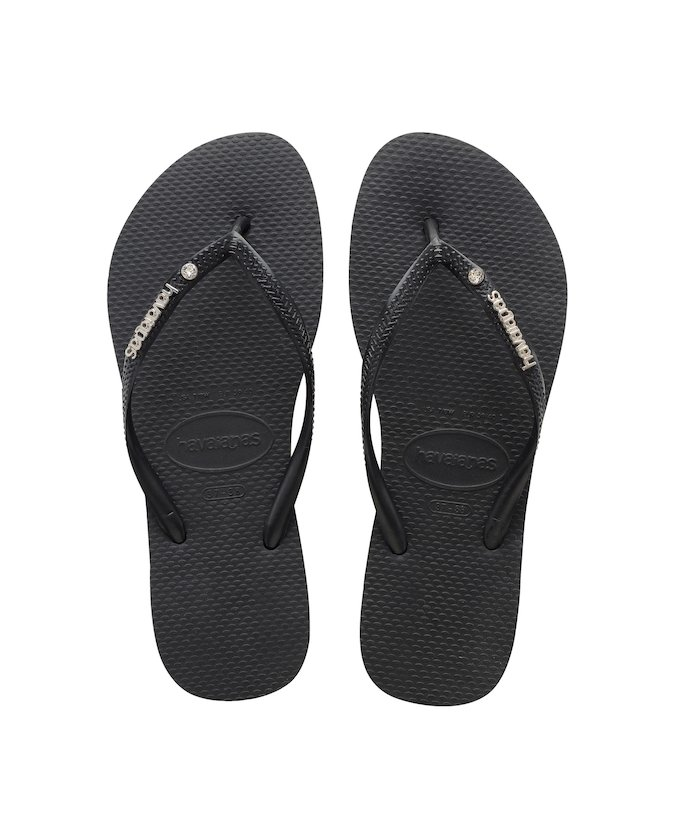 1be37e547 ... HAVAIANAS SLIM METAL LOGO - Black