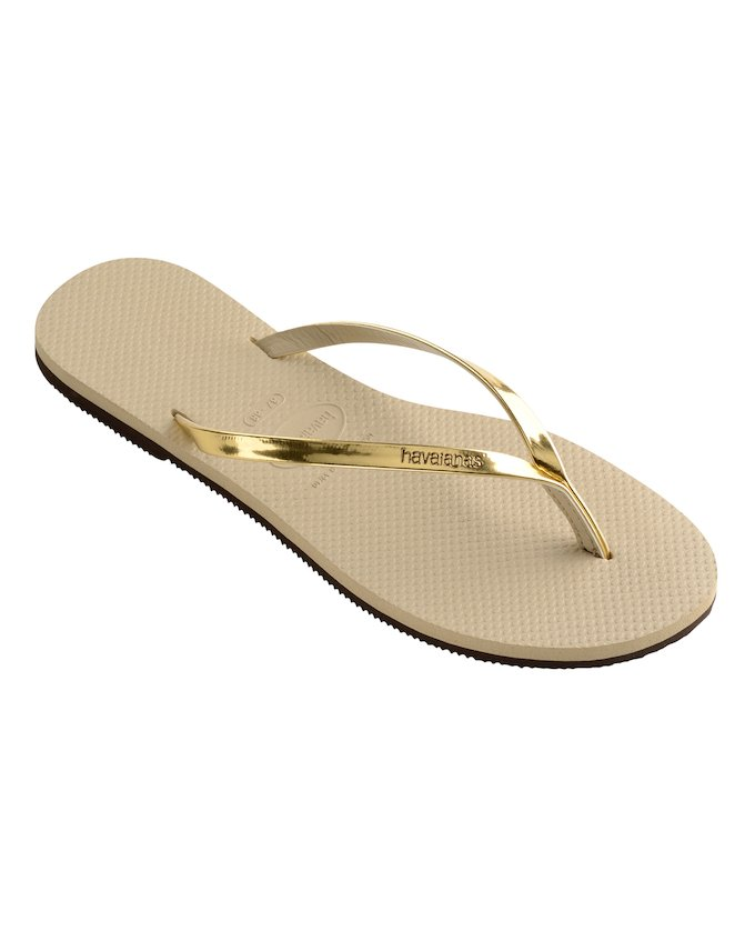20231e4657baa7 HAVAIANAS YOU METALLIC - Sand Grey   Light Golden