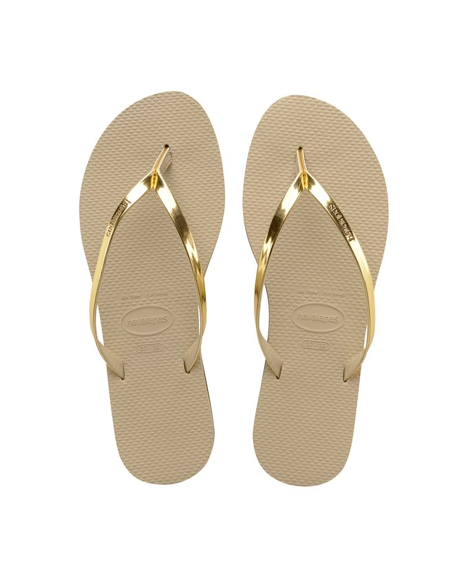 7bb288ab798 HAVAIANAS YOU METALLIC - Sand Grey   Light Golden