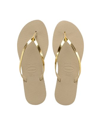 639fa0498c47 HAVAIANAS YOU METALLIC- Sand Grey   Light Golden fashion flip flops for  women ...