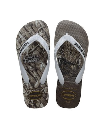 38d497868 HAVAIANAS TOP GAME OF THRONES- Steel Grey Flip flops for women ...